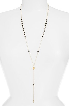 Women's Ettika 'Waiting In Line' Beaded Onyx Y-Chain Necklace $44 thestylecure.com