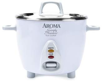 AROMA White 14 Cup White Simply Stainless(TM) Pot Style Rice Cooker