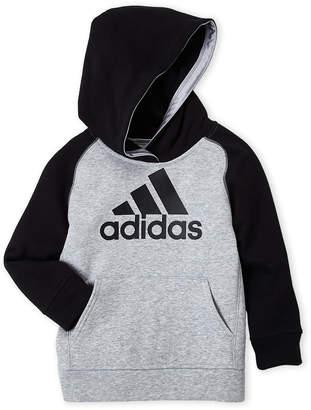 adidas Boys 4-7) Raglan Logo Pullover Hoodie