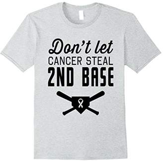 Don't Let Cancer Steal Second Base Breast Cancer T-shirt