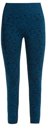 Pepper & Mayne - High Rise Compression Performance Leggings - Womens - Blue