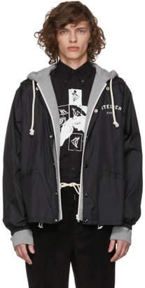 Maison Margiela Black and Grey Hybrid Hoodie Jacket