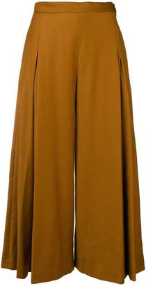 Chalayan pleated flare trousers