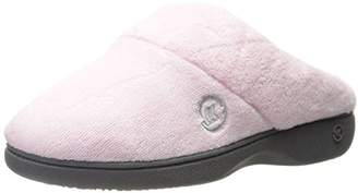 Isotoner Women's Classic Hoodback W Memory Foam Slip on Slipper