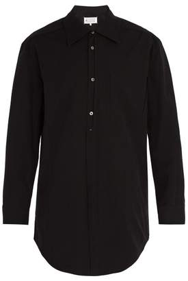 Maison Margiela Oversized Ripped Pocket Shirt - Mens - Black