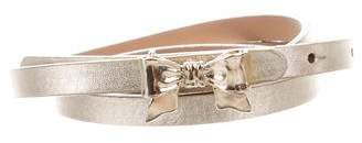 RED Valentino Leather Bow Belt