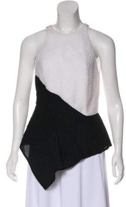 J. Mendel Silk Textured Sleeveless Top