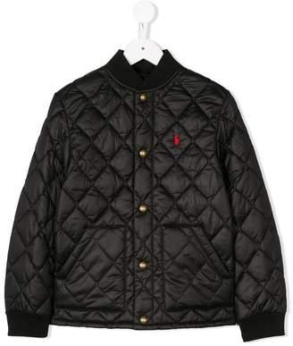 Ralph Lauren Kids quilted logo embroidered jacket