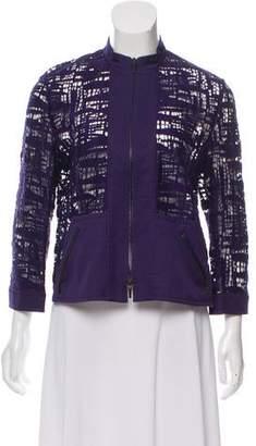 Akris Punto Open Knit Zip-Up Jacket