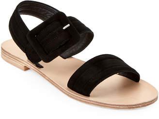Gabriella Black Buckled Slingback Sandals