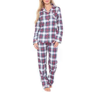 WHITE MARK White Mark Flannel 2-pc. Plaid Pant Pajama Set