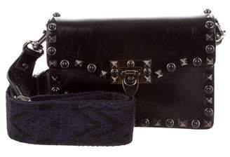 Valentino Guitar Rockstud Native Couture Noir Crossbody Bag