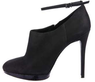 Brian Atwood Leather Ankle Booties Black Leather Ankle Booties