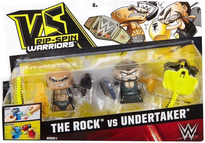 VS Rip-Spin Warriors WWE The Rock & Undertaker 2-Pack