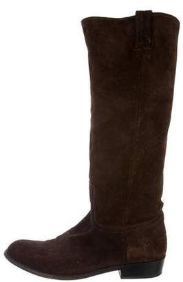 Frye Round-Toe Suede Boots