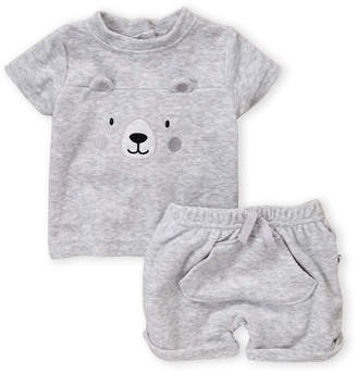 Absorba Newborn Boys) Two-Piece Terrycloth Bear Tee & Shorts