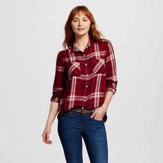 Women's Drapey Boyfriend Plaid Shirt - Mossimo Supply Co. (Juniors') $22.99 thestylecure.com