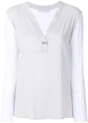 Fabiana Filippi V-neck sheer shirt