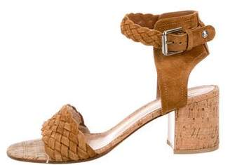 Gianvito Rossi Suede Ankle Strap Sandals