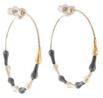 Gurhan Tri-Color Splash Hoop Earrings