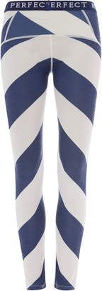 Perfect Moment Chevron-Striped Stretch-Knit Thermal Leggings