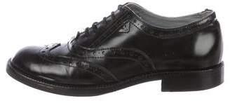 Armani Junior Boys' Leather Round-Toe Oxfords
