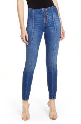 Blank NYC BLANKNYC The Great Jones Seam Detail Skinny Jeans