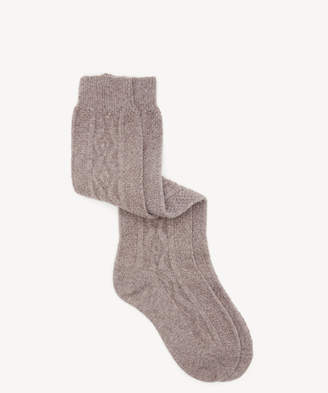Sole Society Women's Knit Knee High Socks Taupe One Size From