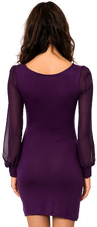 *MKL Collective The Night Rider Dress in Eggplant