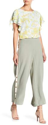 June & Hudson Buttons Down Wide Leg Pants