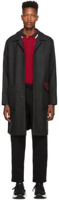 Kenzo Grey Wool Core Coat