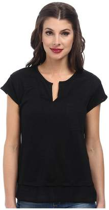 Sanctuary City Mix Tee Women's Short Sleeve Pullover