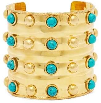 Sylvia Toledano - Massai Dots Turquoise Stone Cuff - Womens - Blue