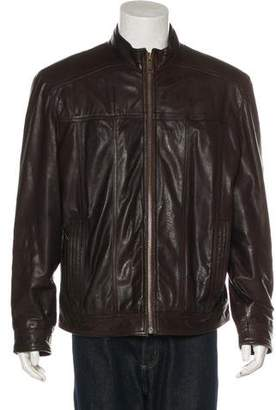 Andrew Marc Leather Zip Jacket