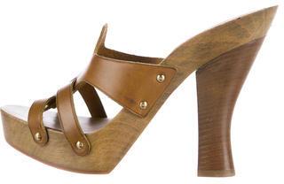 Saint LaurentYves Saint Laurent Leather Platform Sandals