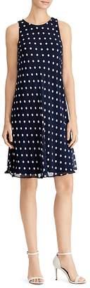 Lauren Ralph Lauren Polka-Dot Swing Dress
