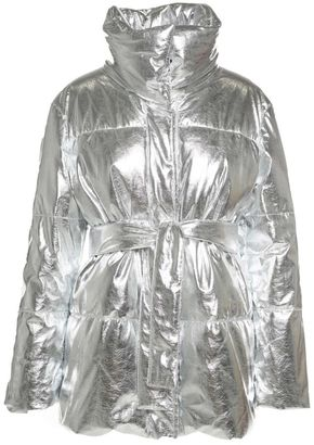 MSGM Metallic Belted Down Jacket