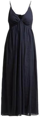 Loup Charmant Adelaide Cotton Midi Dress - Womens - Navy