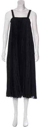 Les Copains Accordion Pleat Maxi Dress