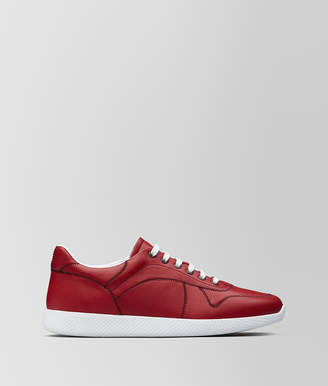 Bottega Veneta CHINA RED CALF LITHE SNEAKER