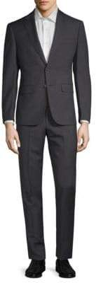 Calvin Klein Slim-Fit Plaid Wool Suit