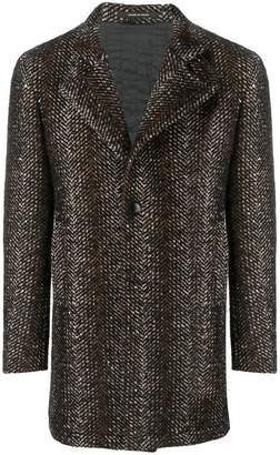 Tagliatore textured single-breasted coat