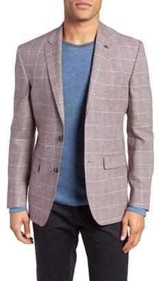 Ted Baker Jay Trim Fit Tattersall Wool & Linen Sport Coat
