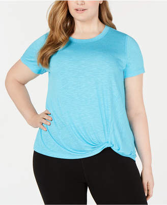 Ideology Plus Size Knot-Front T-Shirt