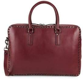 Valentino Studded Leather Briefcase