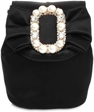 Roger Vivier Mini Satin Backpack W/ Embellished Bow