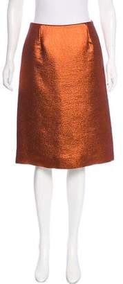 Louis Vuitton Metallic Wool & Silk Skirt