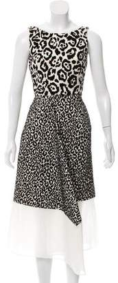 Antonio Berardi Flocked Leopard Dress w/ Tags