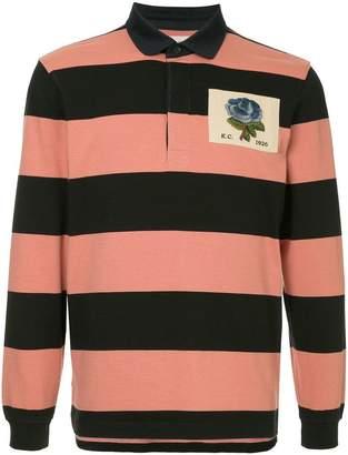 Kent & Curwen long-sleeved rose polo shirt
