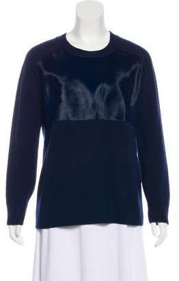 Mason Ponyhair-Paneled Wool Sweater